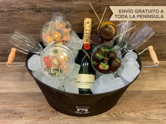 Champagne Möet Chandon Cestas a domicilio Zaragoza Catering Doña Col