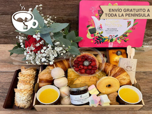 Desayunos a domicilio Zaragoza Special Tea Premium Catering Doña Col. 3 Rosas