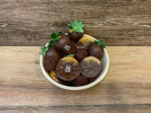 Desayunos a domicilio Zaragoza Bowl frutas Chocolate Catering Doña Col