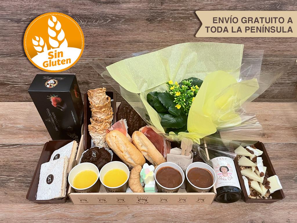 Desayunos a domicilio Zaragoza Super Premium Floral Sin Gluten Catering Doña Col